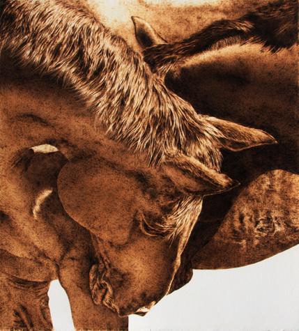 Пирография – горячая живопись Джулии Бендер — фото 15