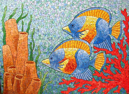 Мозаика из яичной скорлупы Любови Мешакиной — фото 14
