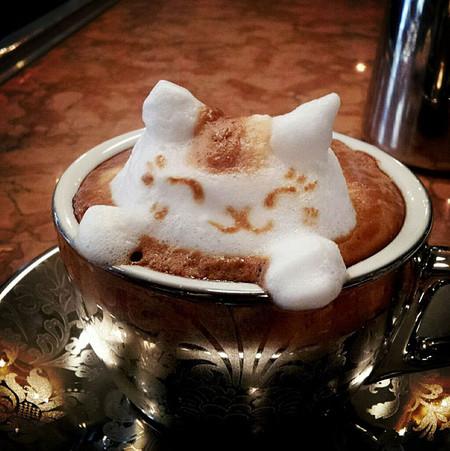 3D везде, даже в кофейной пенке! Продвинутый латте-арт от Kazuki Yamamoto — фото 11