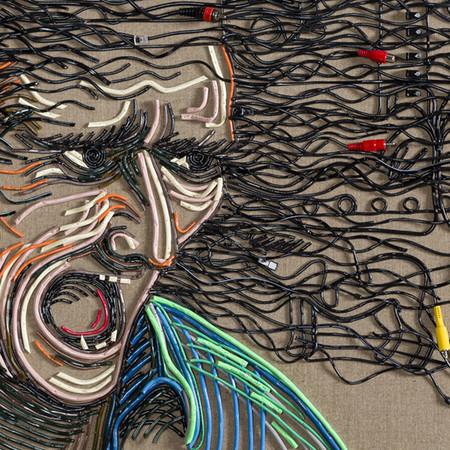 Яркие картины из кабелей от Федерико Урибе — фото 20