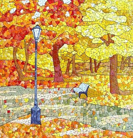 Мозаика из яичной скорлупы Любови Мешакиной — фото 8