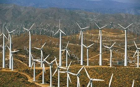 Калифорния, Палм-Спрингс, ветряные электротурбины
