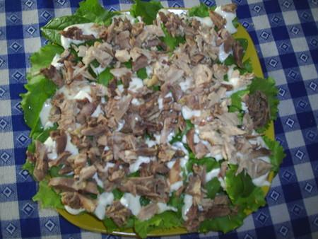 Мяско сделает салат сытным