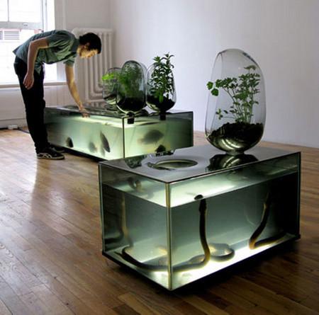 Аквариум – не только домик для рыб. Необычные и разные, маленькие и огромные аквариумы – солисты в интерьере — фото 11