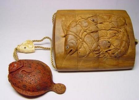 Сагемоно-инро – японский карман. Почему в настоящем нэцкэ должно быть две дырочки? — фото 6
