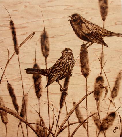 Пирография – горячая живопись Джулии Бендер — фото 25