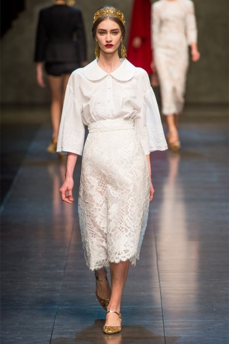 Dolce & Gabbana осень-зима 2013-2014 – когда всего слишком много — фото 54