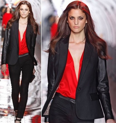 Черно-красное сочетание — частый гость в коллекциях испанского бренда