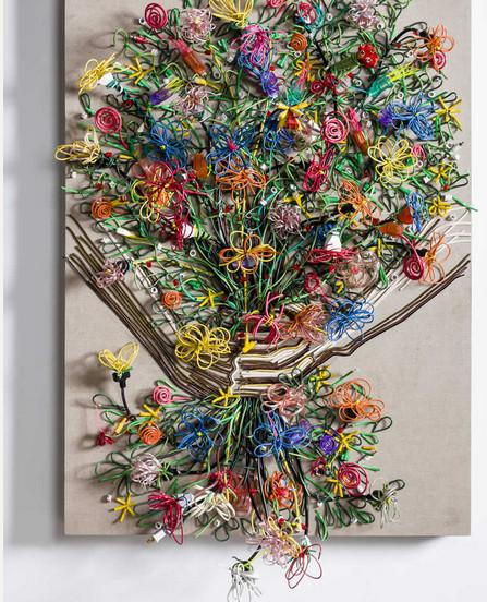Яркие картины из кабелей от Федерико Урибе — фото 14