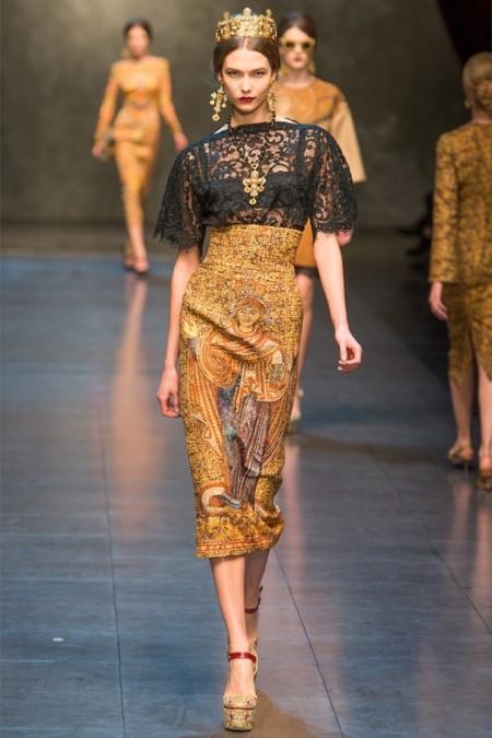 Dolce & Gabbana осень-зима 2013-2014 – когда всего слишком много — фото 2