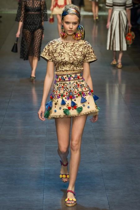 Сицилия от Dolce & Gabbana - женская коллекция весна-лето 2013 — фото 49