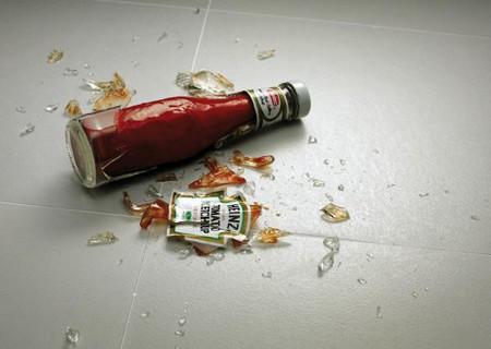 Кетчуп не только острый, но и густой )))
