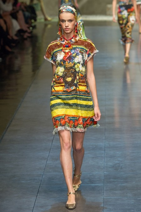 Сицилия от Dolce & Gabbana - женская коллекция весна-лето 2013 — фото 73