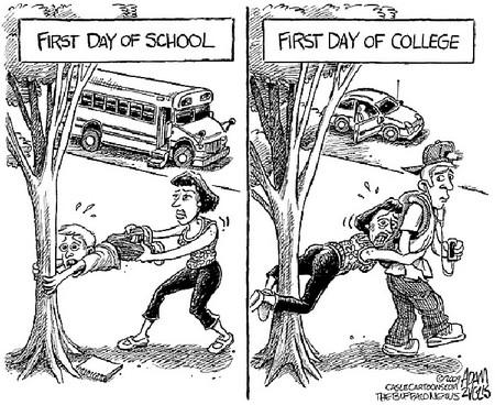 Без комментариев – «первый день в школе» и «первый день в колледже». В ТОЧКУ!