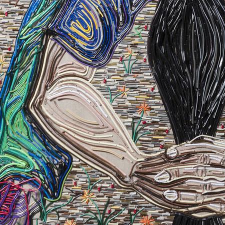 Яркие картины из кабелей от Федерико Урибе — фото 2