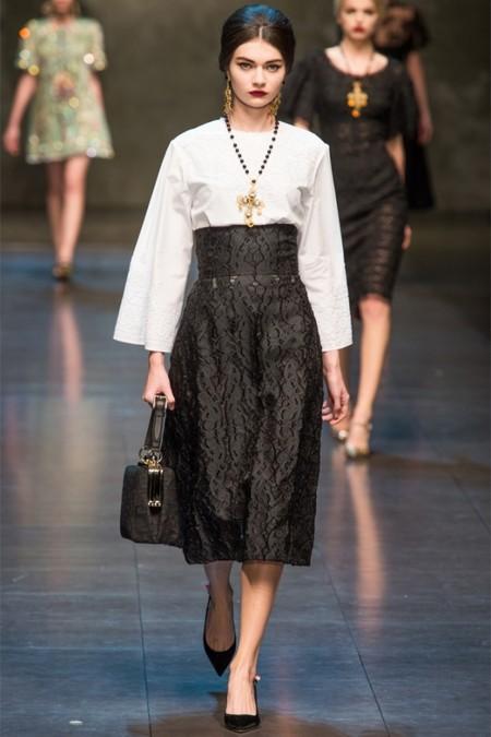 Dolce & Gabbana осень-зима 2013-2014 – когда всего слишком много — фото 37
