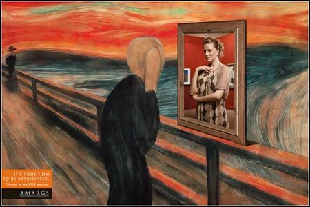 """Человек из """"Крика"""" — посетитель музея"""
