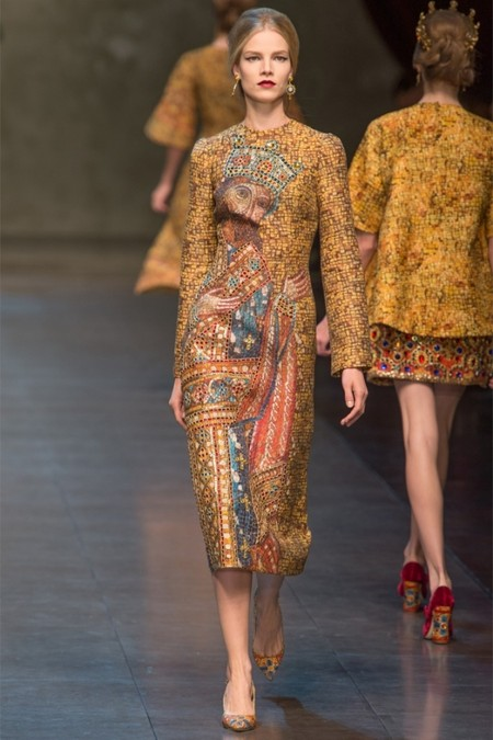 Dolce & Gabbana осень-зима 2013-2014 – когда всего слишком много — фото 12
