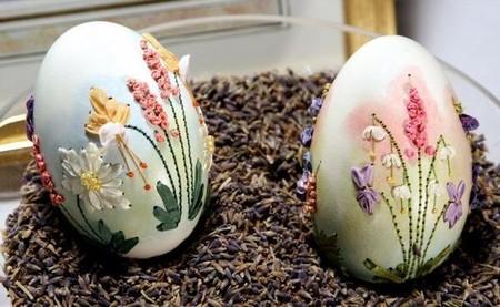 Вышивка по … яичной скорлупе. Ювелирная работа Элизабет Кляйн — фото 5