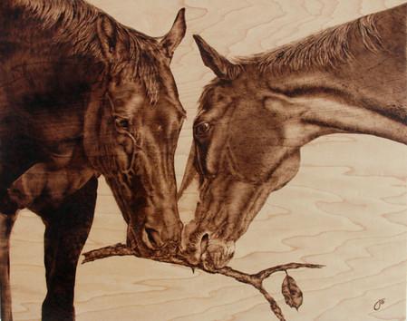 Пирография – горячая живопись Джулии Бендер — фото 19