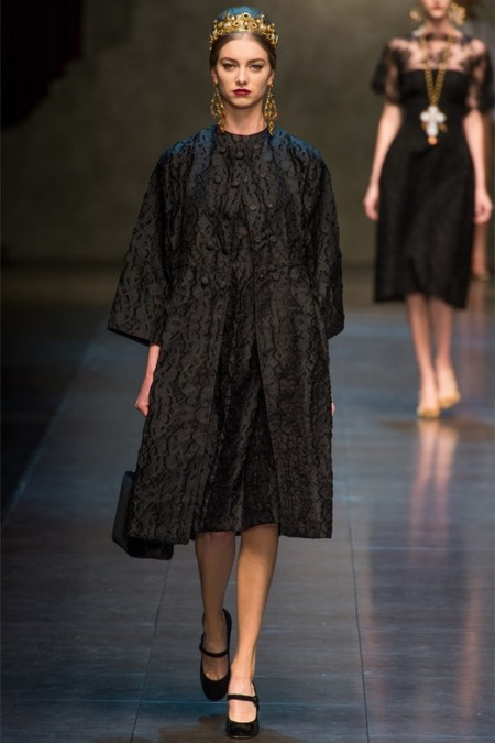 Dolce & Gabbana осень-зима 2013-2014 – когда всего слишком много — фото 33