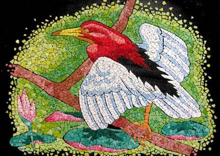 Мозаика из яичной скорлупы Любови Мешакиной — фото 2