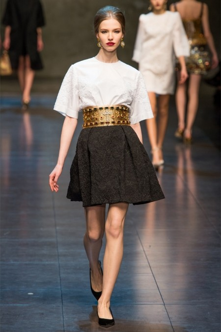 Dolce & Gabbana осень-зима 2013-2014 – когда всего слишком много — фото 43