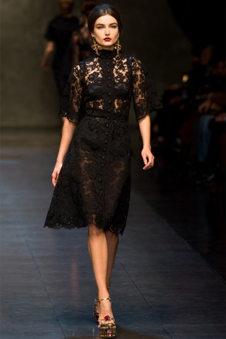 Dolce & Gabbana осень-зима 2013-2014 – когда всего слишком много — фото 50