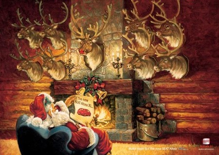 Начну с автомобильных брендов – Seat, например, уверен, что Санта всем оленям предпочтет авто их марки