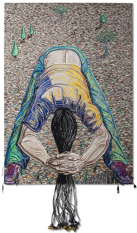 Яркие картины из кабелей от Федерико Урибе — фото 1