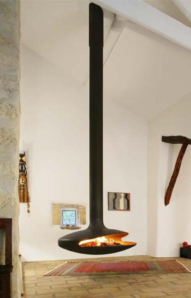 Потолочный камин – самый современный и настоящий домашний очаг — фото 14
