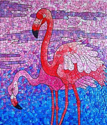 Мозаика из яичной скорлупы Любови Мешакиной — фото 4