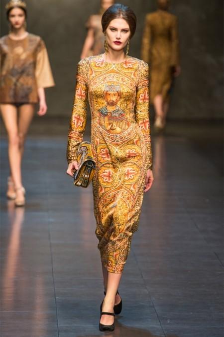 Dolce & Gabbana осень-зима 2013-2014 – когда всего слишком много — фото 14