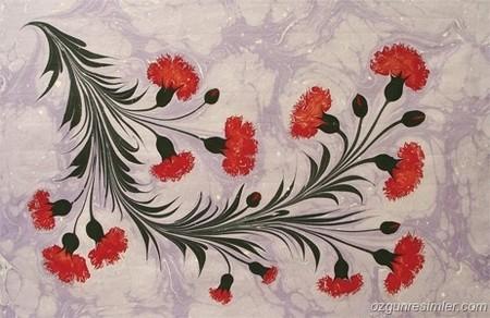 Эбру – нарисованные на воде фантазии — фото 36
