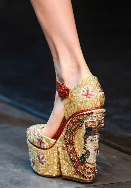 Dolce & Gabbana осень-зима 2013-2014 – когда всего слишком много — фото 98