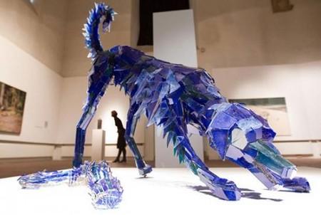 Скульптуры из битого стекла от Марты Клоновской — фото 7