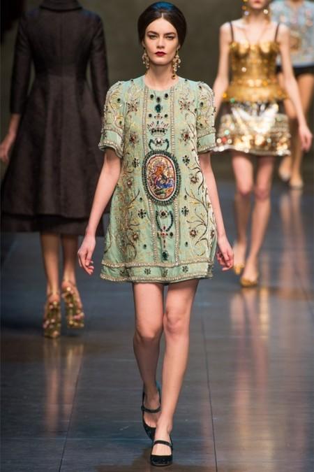 Dolce & Gabbana осень-зима 2013-2014 – когда всего слишком много — фото 39