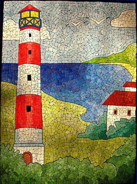 Мозаика из яичной скорлупы Любови Мешакиной — фото 11