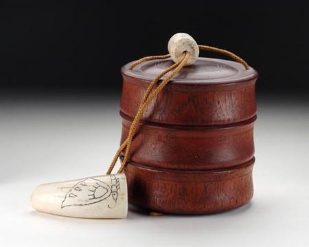 Сагемоно-инро – японский карман. Почему в настоящем нэцкэ должно быть две дырочки? — фото 9