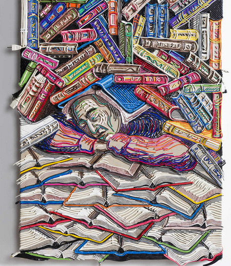 Яркие картины из кабелей от Федерико Урибе — фото 5