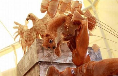 Скульптуры из стружки Сергея Бобкова — фото 10