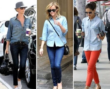 Ода джинсовой рубашке – сочиняем образы — фото 79