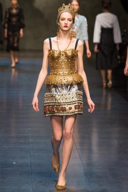 Dolce & Gabbana осень-зима 2013-2014 – когда всего слишком много — фото 40