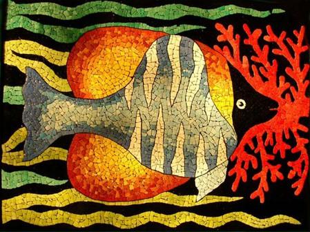 Мозаика из яичной скорлупы Любови Мешакиной — фото 20