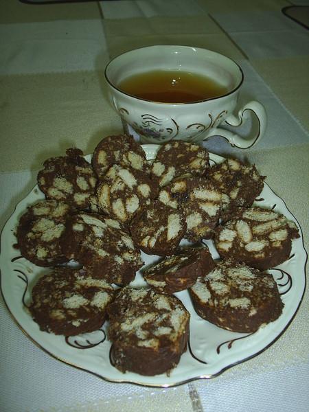 Шоколадная колбаска к субботнему завтраку — фото 9