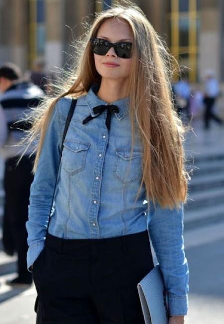 Ода джинсовой рубашке – сочиняем образы — фото 19