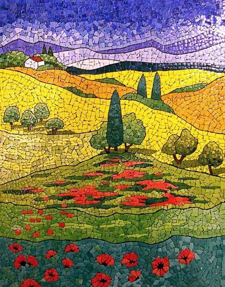 Мозаика из яичной скорлупы Любови Мешакиной — фото 7