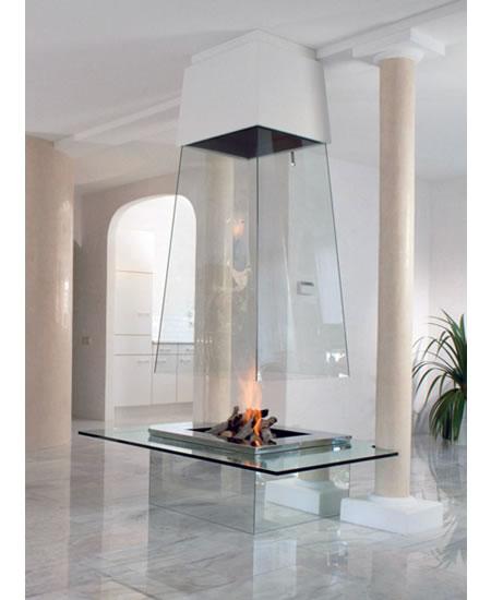 Потолочный камин – самый современный и настоящий домашний очаг — фото 25