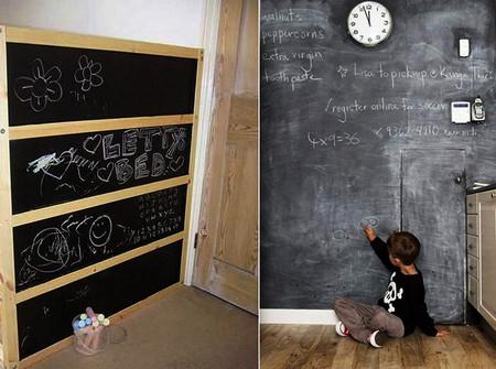 Школьная доска – часть интерьера кухни, детской, спальни и т.д. — фото 23
