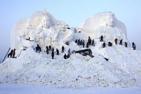 Фестиваль Ледяных дворцов в китайском Харбине – зимняя сказка — фото 24